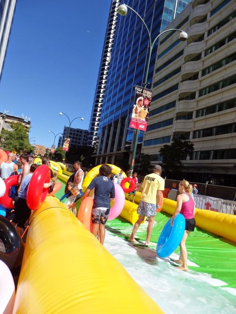 backyard water slide on steroids slide street perth 2014 the